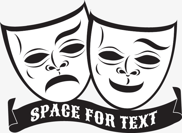 625x458 Vector Illustration Comedy And Tragedy Theater Masks, Theatre Mask
