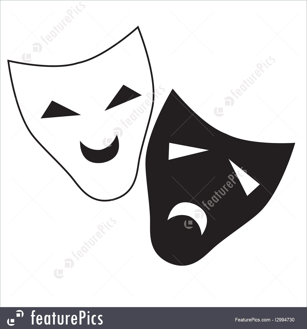 1300x1392 Vector Theatrical Masks