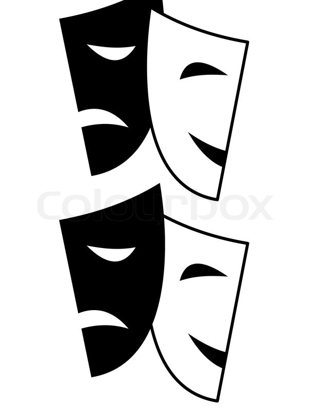 618x800 Vector Set Of Theatrical Masks