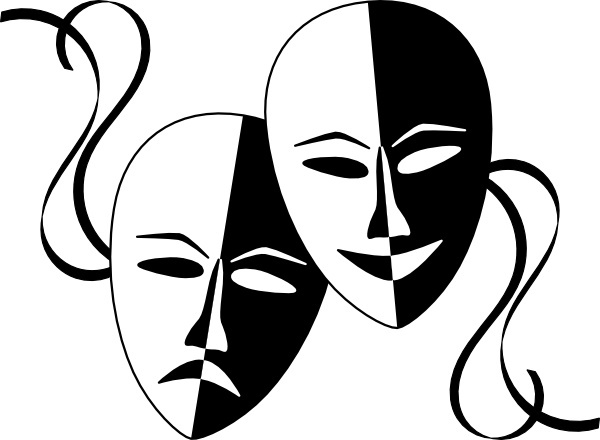 600x440 Wasat Theatre Masks Clip Art Free Vector In Open Office Drawing