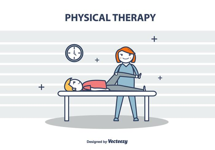 700x490 Physical Therapy Vector Illustration