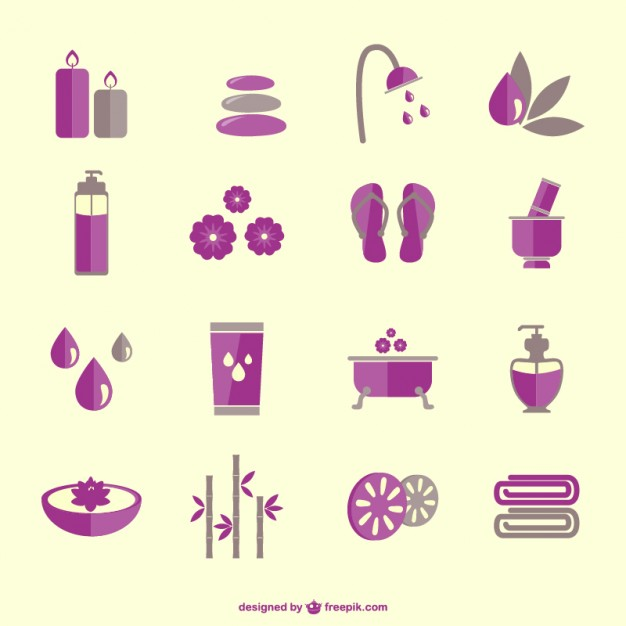 626x626 Spa Therapy Elements Icons Vector Free Download