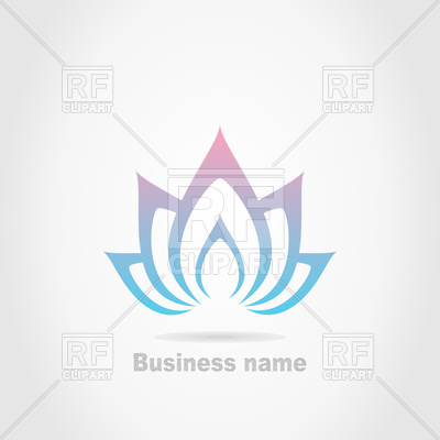 400x400 Spa Therapy Lotus Flower Icon Vector Image Vector Artwork Of