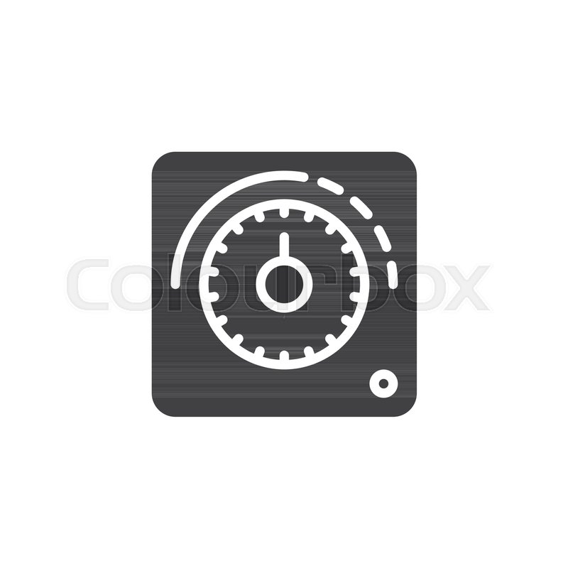800x800 Thermostat Icon Vector, Filled Flat Sign, Solid Pictogram Isolated