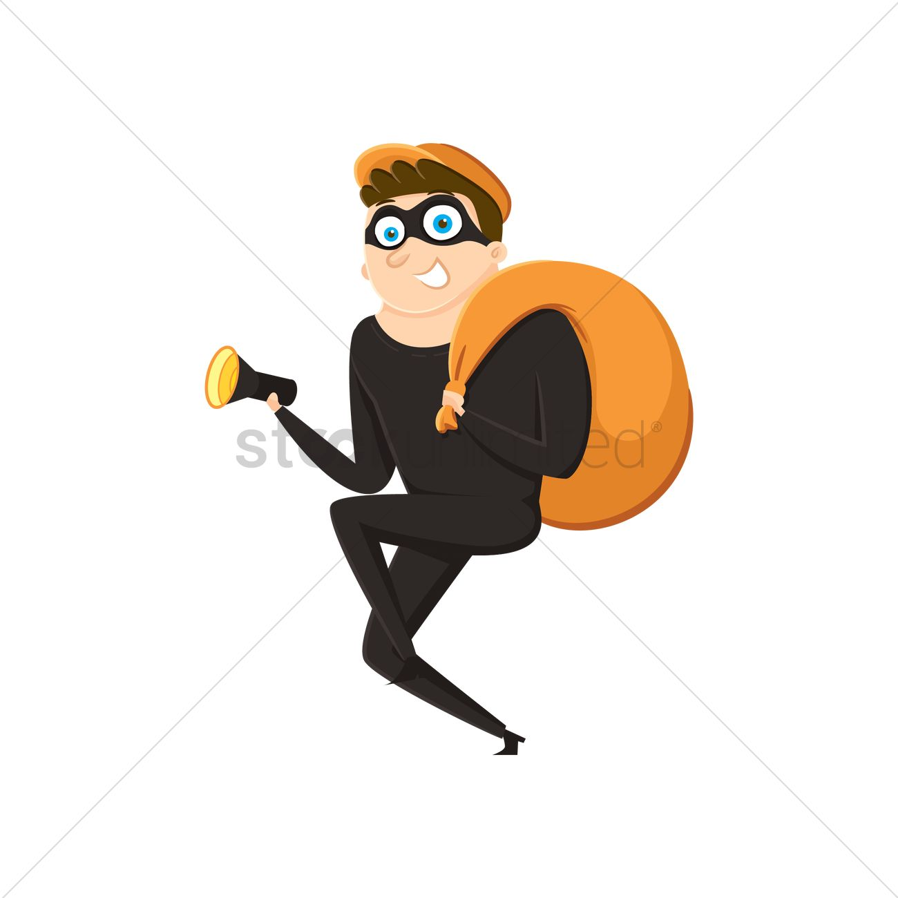 1300x1300 Sneaking Thief Vector Image