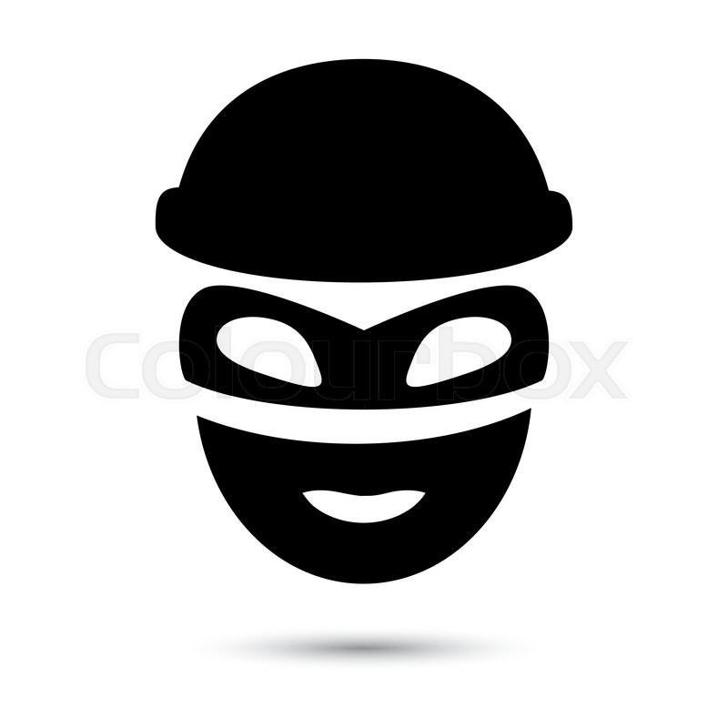 800x800 Thief Icon Isolated On White. Simple Web Black Icon In Vector