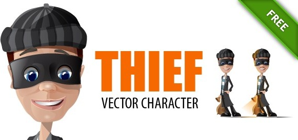 581x274 Thief Vector Characters Free Vector In Adobe Illustrator Ai ( .ai