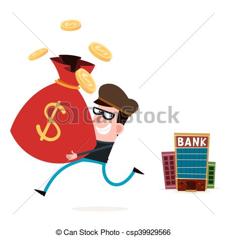 450x470 Tricky Thief Stealing Money From Bank.