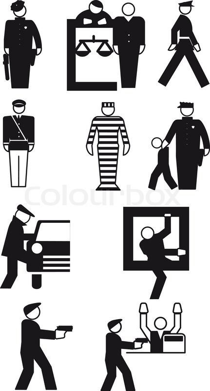 431x800 Vector Illustrations Of Policeman And The Thief Stock Vector