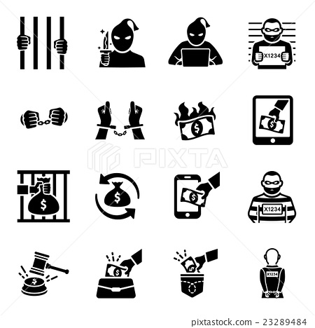 450x468 Criminal Thief Vector Icon Set