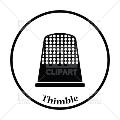400x400 Thin Circle Design Of Tailor Thimble Icon Vector Image Vector