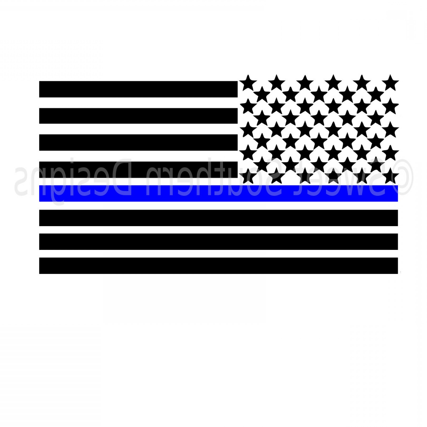 1620x1620 Results For Thin Blue Line Flag Vector