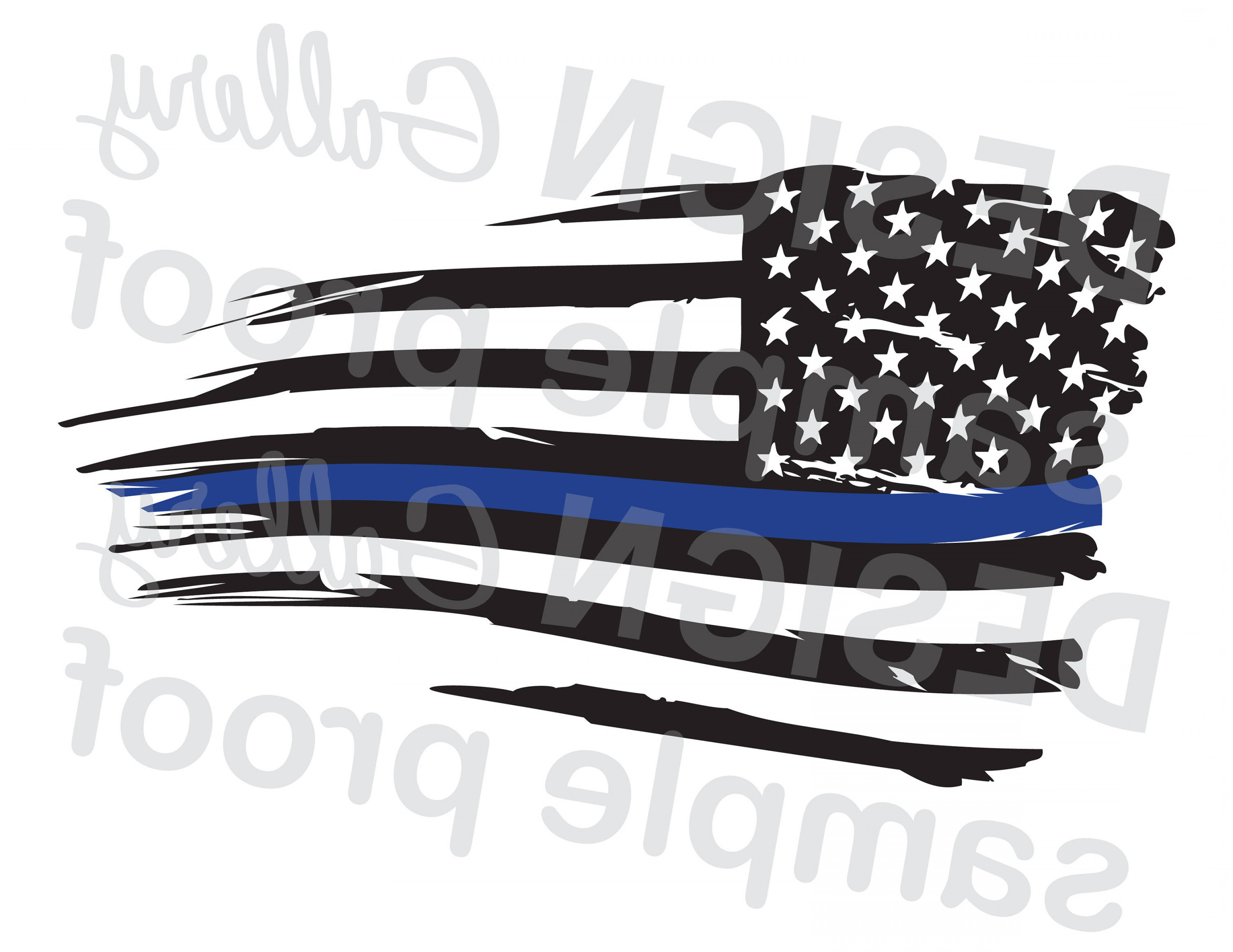 3600x2781 American Flag Thin Blue Line Distressed Createmepink