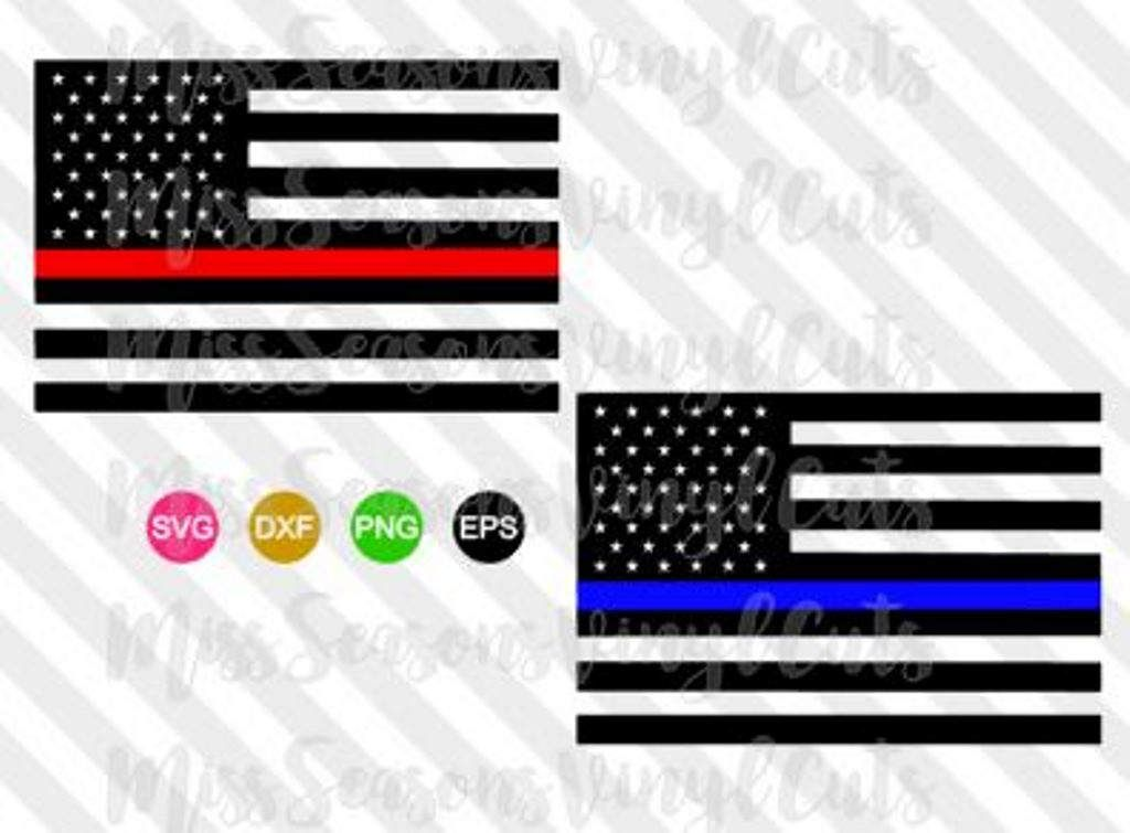 1024x755 Thin Blue Line American Flag Svgvector File Amp Dxf Police Black