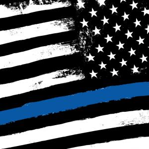 300x300 Thin Blue Line Black Flag With Police Blue Line Vector Rongholland