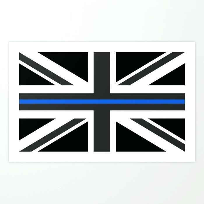 700x700 Thin Blue Line Flag Art Print Vector Obscuraretribution