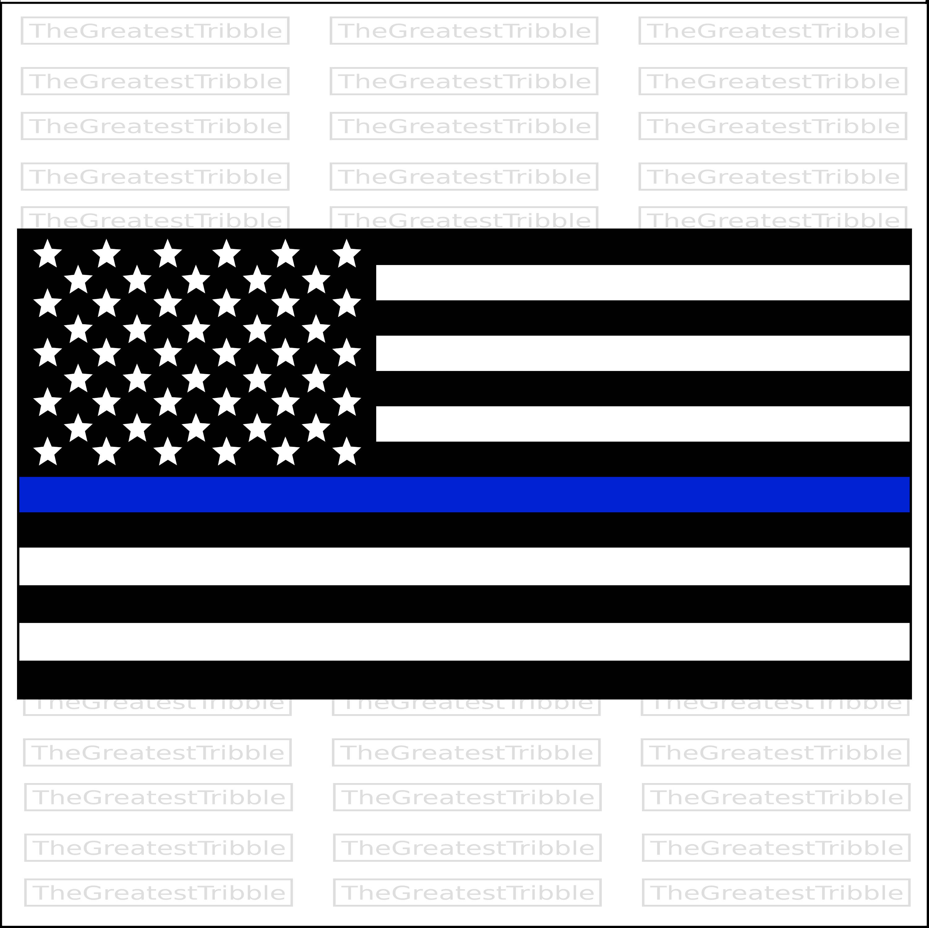 3000x2997 American Flag With Thin Blue Line Grunge Aged Vector 8370247 0