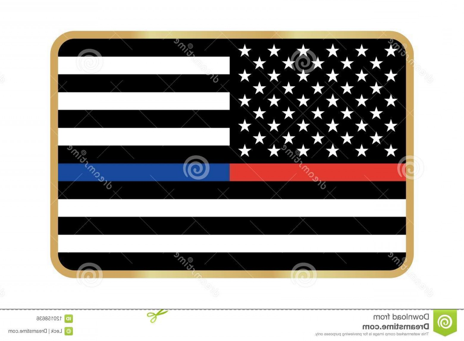 1560x1148 Vector Thin Blue Line Red Police Fire Respect Honor Law