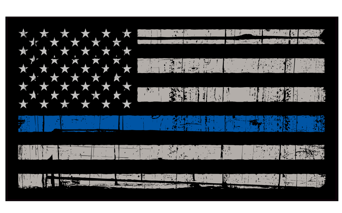 1134x709 Thin Blue Line Flag