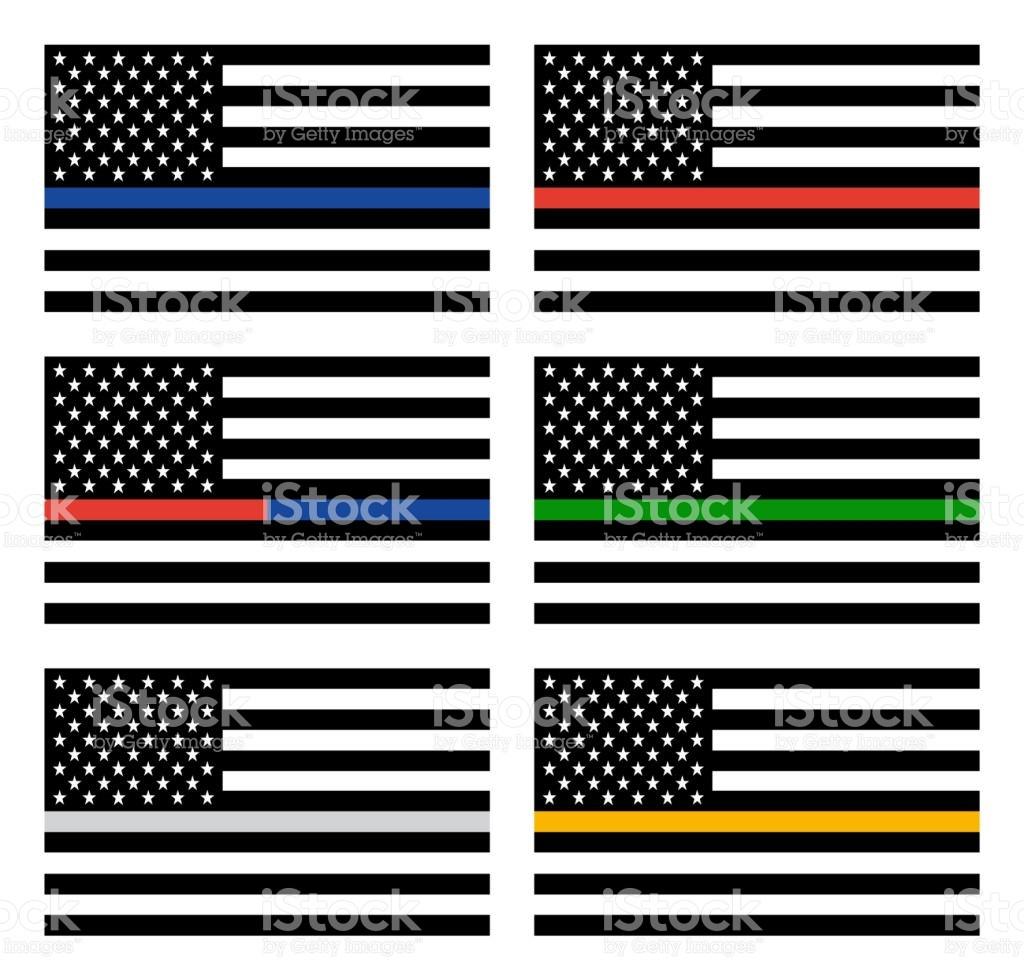 1024x980 Blue Line Flag Vector