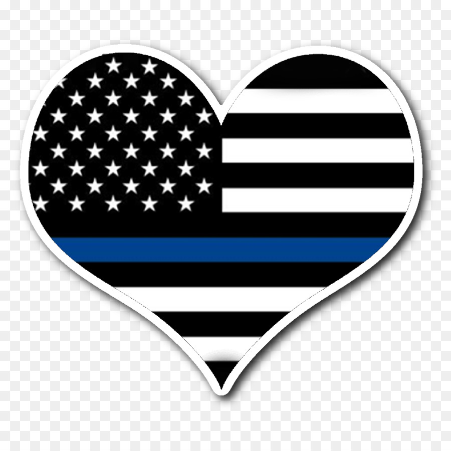 900x900 Flag Of The United States Vector Graphics Heart Thin Blue Line