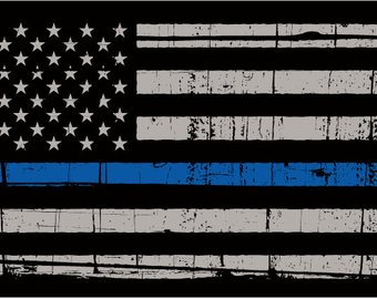 340x270 Police Thin Blue Line Bullet Flag 11oz Ceramic Coffee Mug