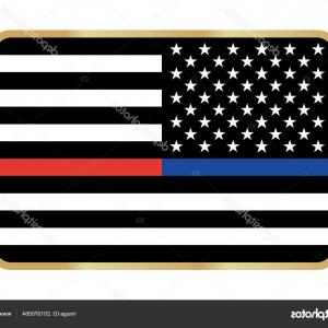 300x300 Stock Illustration Vector Thin Blue Line Red Rongholland