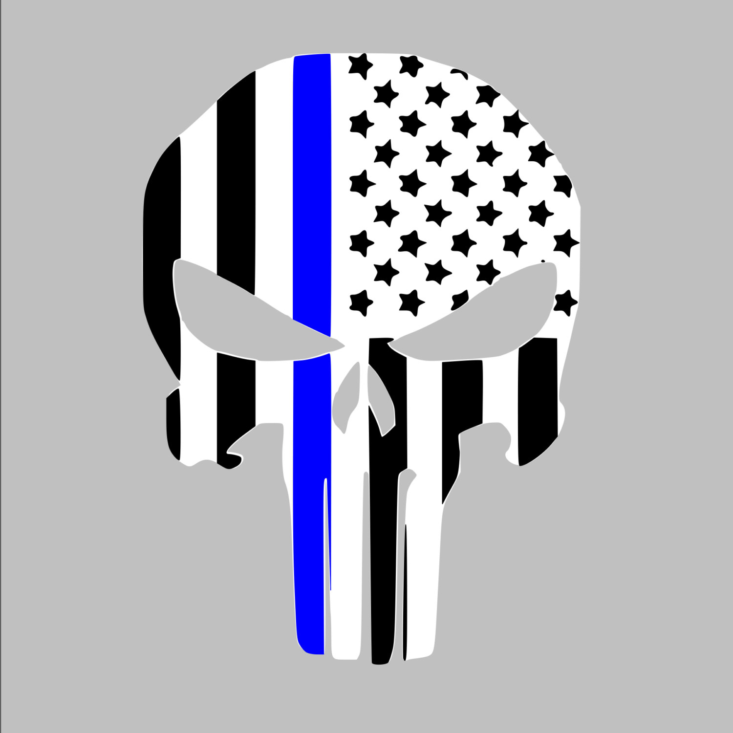 1500x1500 Thin Blue Line American Punisher Law Enforcement Police Support