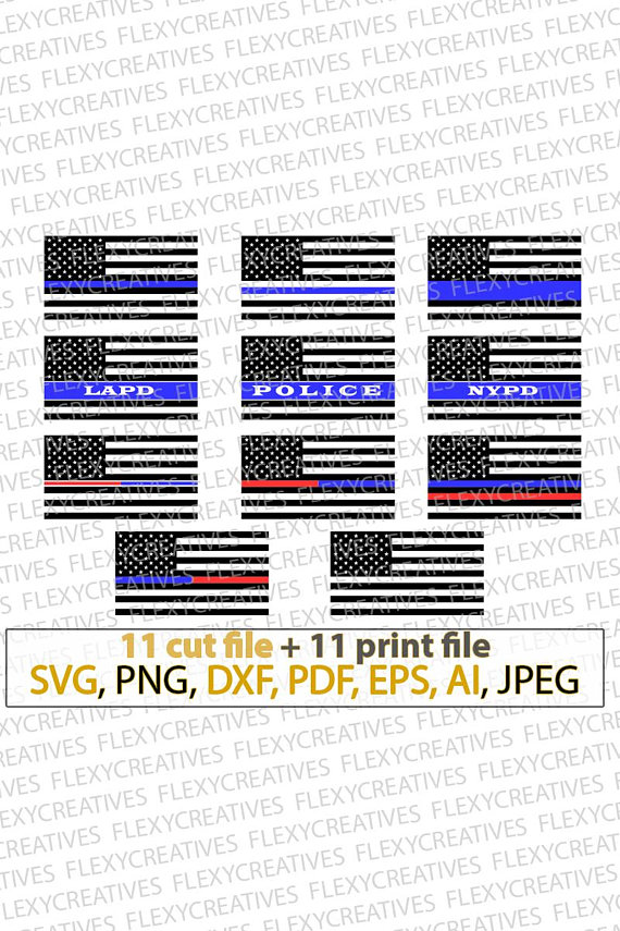 570x855 Thin Blue Line Svg Bundle, Police Officer, Lapd, Nypd, Blue Line