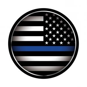 300x300 Usa Police Support Thin Blue Line Vector Rongholland