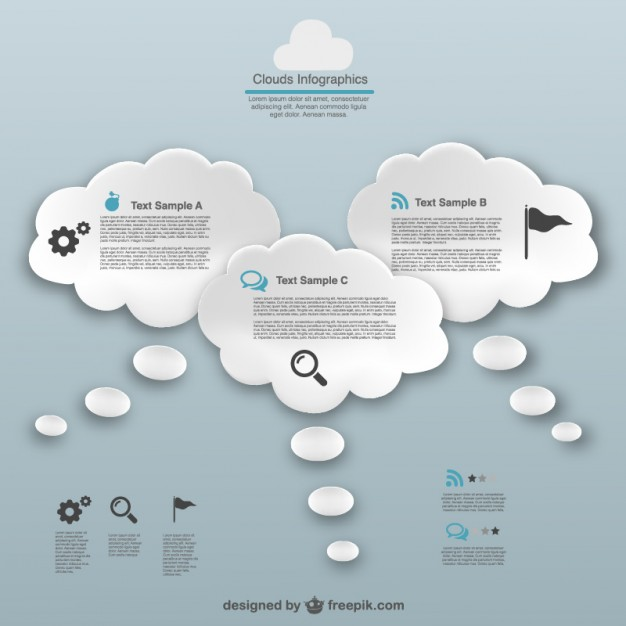626x626 Thinking Bubble Clouds Infographic Free Vectors Ui Download