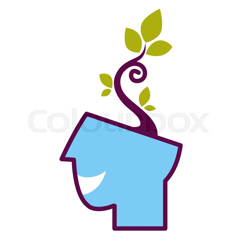 800x800 Psychology Abstract Symbol Of Human Head With Growing Tree