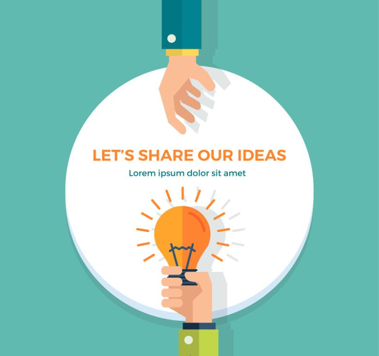 782x735 Share Illustrations Creative Thinking Vector Free Vector Graphic