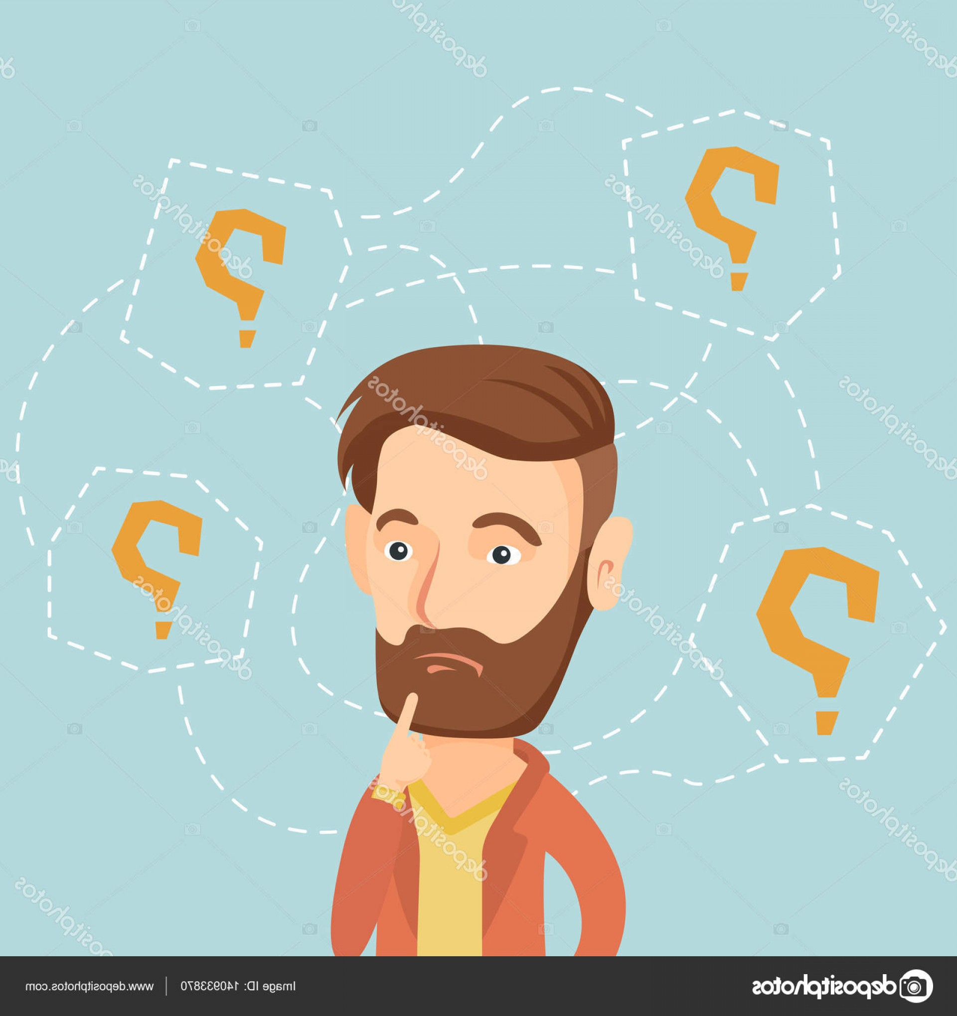 1920x2040 Stock Illustration Young Business Man Thinking Vector Shopatcloth
