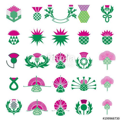 500x500 Thistle Icon Set. Stock Image And Royalty Free Vector Files On