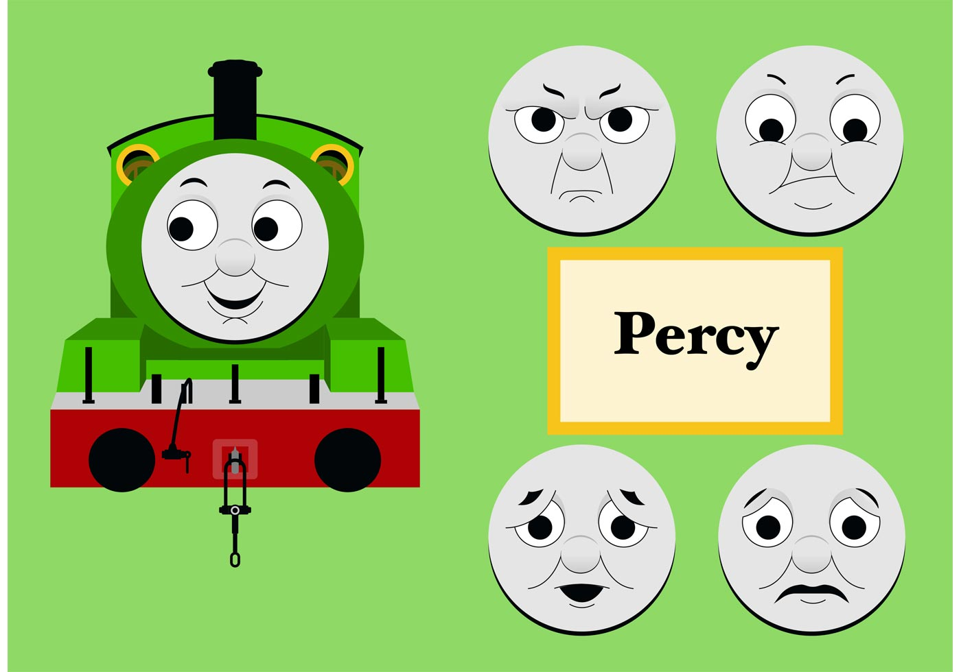 1400x980 Percy From Thomas The Tank Engine Free Vector