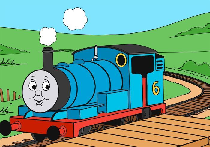 700x490 Thomas The Train Riding Vector