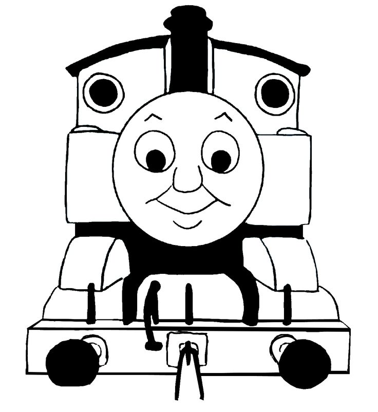 736x802 Collection Of Thomas Train Clipart Black And White High