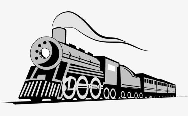 650x400 Vector Painted Gray Train, Train Vector, Hand Painted, Gray Png