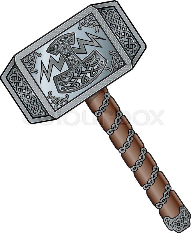 656x800 The Viking God, Thors Hammer Stock Vector Colourbox