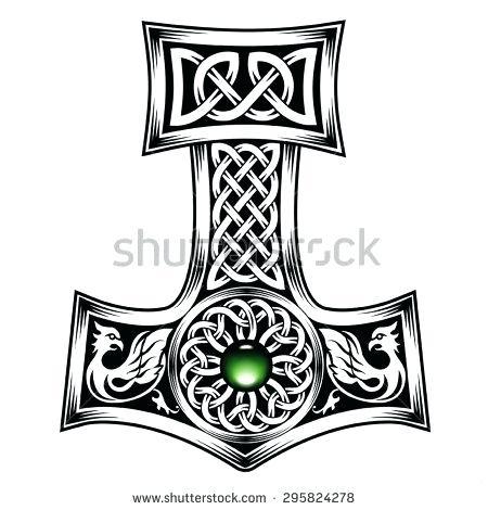 450x470 Thor Hammer Logo Hammer Rubber Logo Bracelet Thors Hammer Symbol