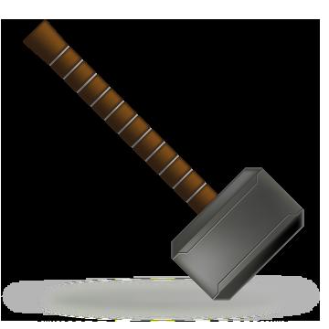 360x360 Unique Thor Hammer Clipart Hammer Stock Vectors Vector Clip Art
