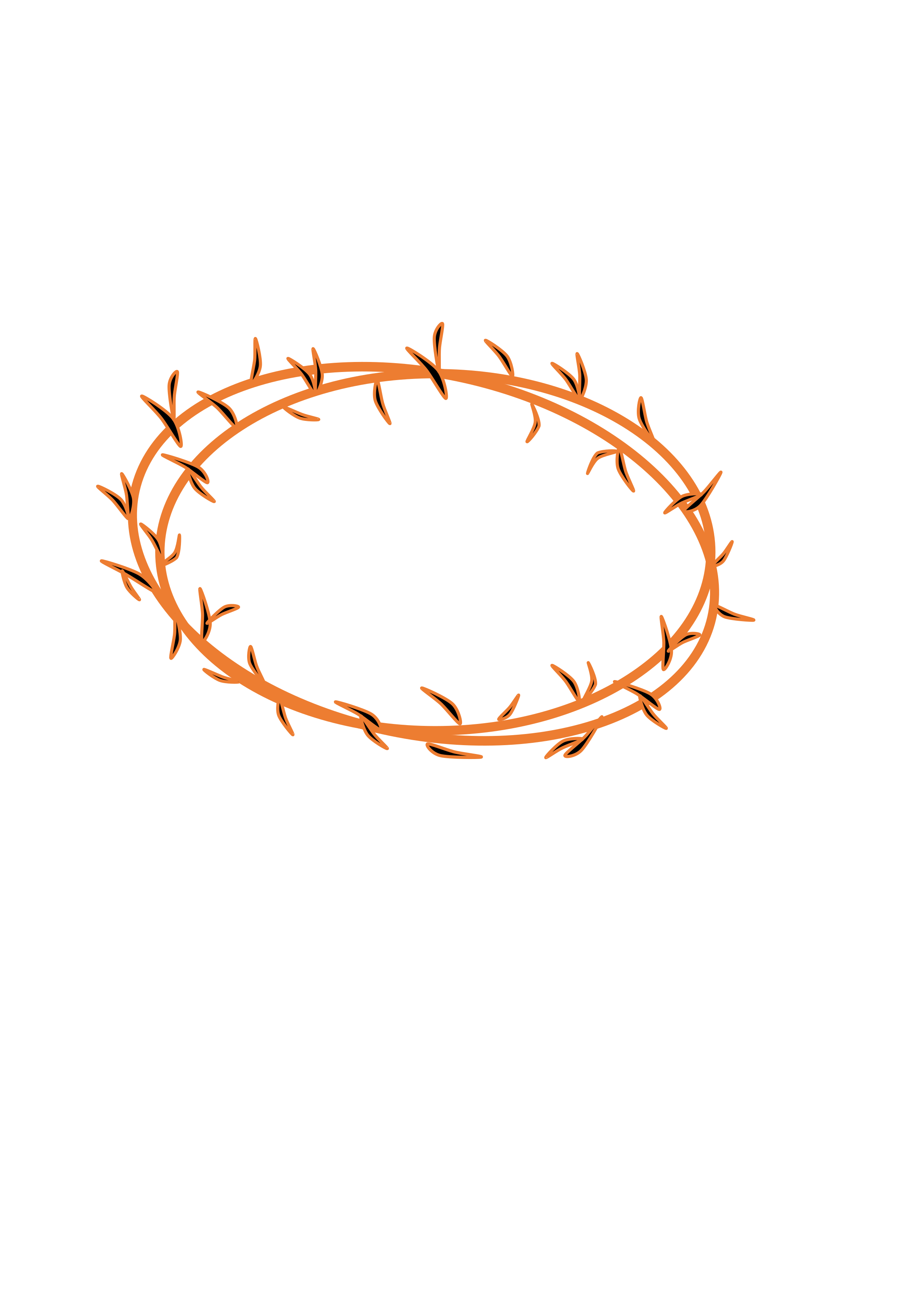 2400x3394 Crown Of Thorns Transparent Background Picture Library Library