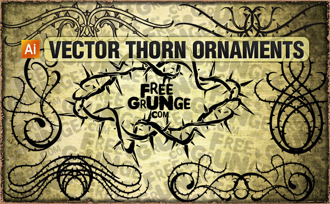 650x402 12 Vector Thorns Ornaments Free Vectors Ui Download