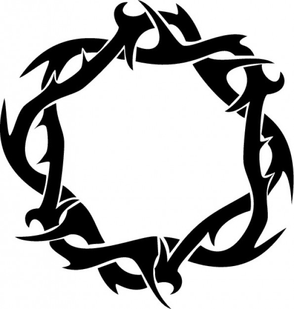 595x626 Thorns Crown Ring Clipart Top View Vector Free Download