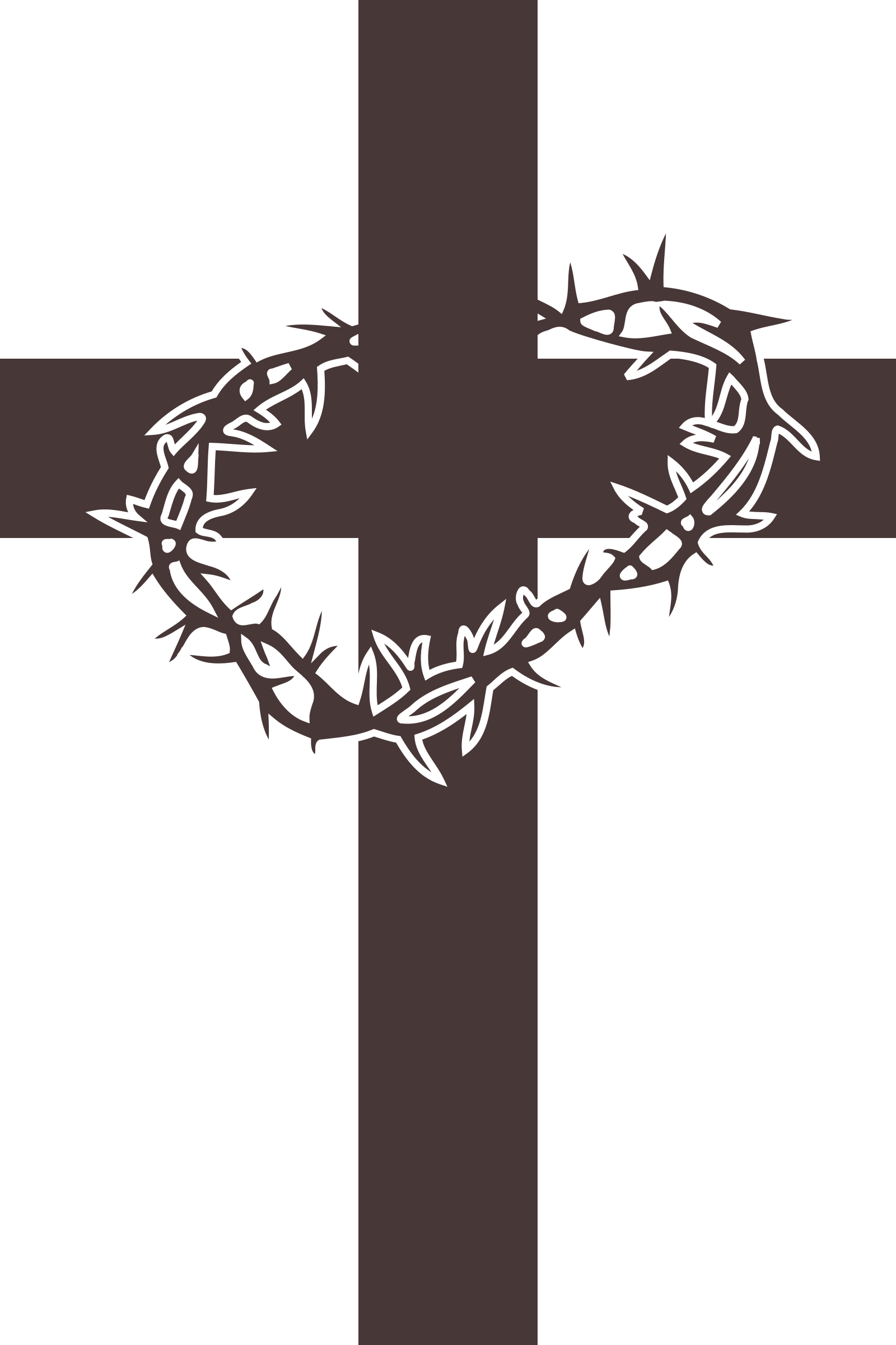1600x2400 Cross And Thorns Vector Clipart Image