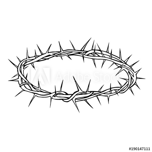 500x500 Crown Of Thorns Vector Illustration Stock Illustration