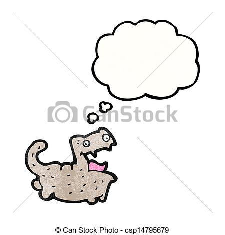 449x470 Funny Cartoon Cat With Thought Bubble Vectors Illustration