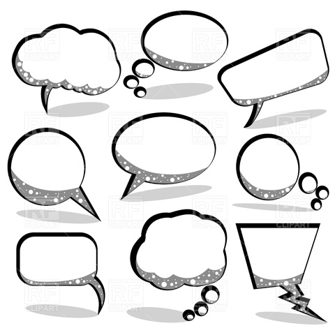 480x480 Speech And Thought Bubbles Vector Image Vector Artwork Of Design