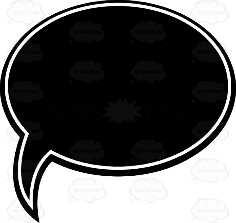 800x755 Talk Bubble Black And White Computer Icon Clipart By Vector Toons